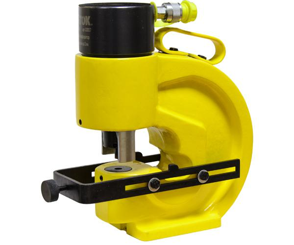 Busbar punching tool SHP-110AP+ with automatic busbar holder and parallel limit stop