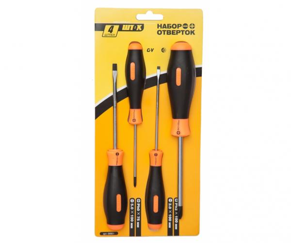 Screwdriver set, 4 pcs., blister package