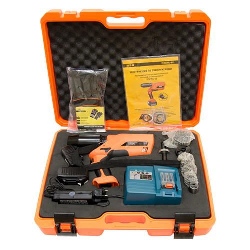 Battery-powered electro-hydraulic sheet metal punсhing tool PEGLA-60