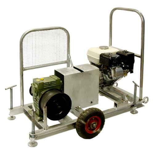 Gasoline powered winch